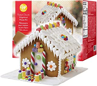 Gingerbread House Kit - BIG! Christmas Traditional Gingerbread House Decorating Kit, Pre-assembled - Includes Ready House,...