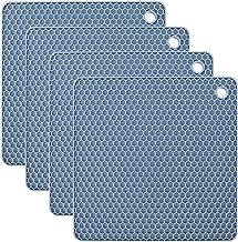 plastica H/&H Set 3 Sottopentola Neoprene Forma Quadrifoglio 18X18 Cm Nero