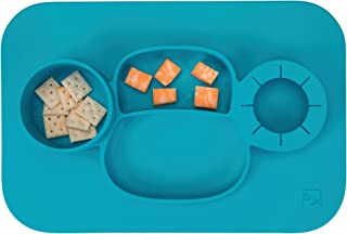 InterDesign 09950 ID jr Monkey Non-Slip Silicone Suction Divided Placemat Plate for..