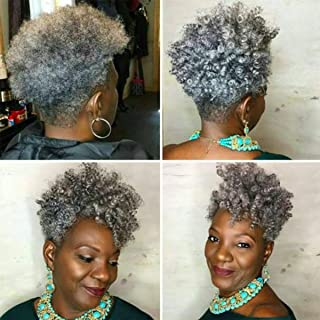 Creamily 3 Packs Synthetic Saniya Curl Crochet Braids 10 Inch/ 20 Roots Afro Gray Bounce Braids 12mm African Jumpy Wand Curl Weave Short braids