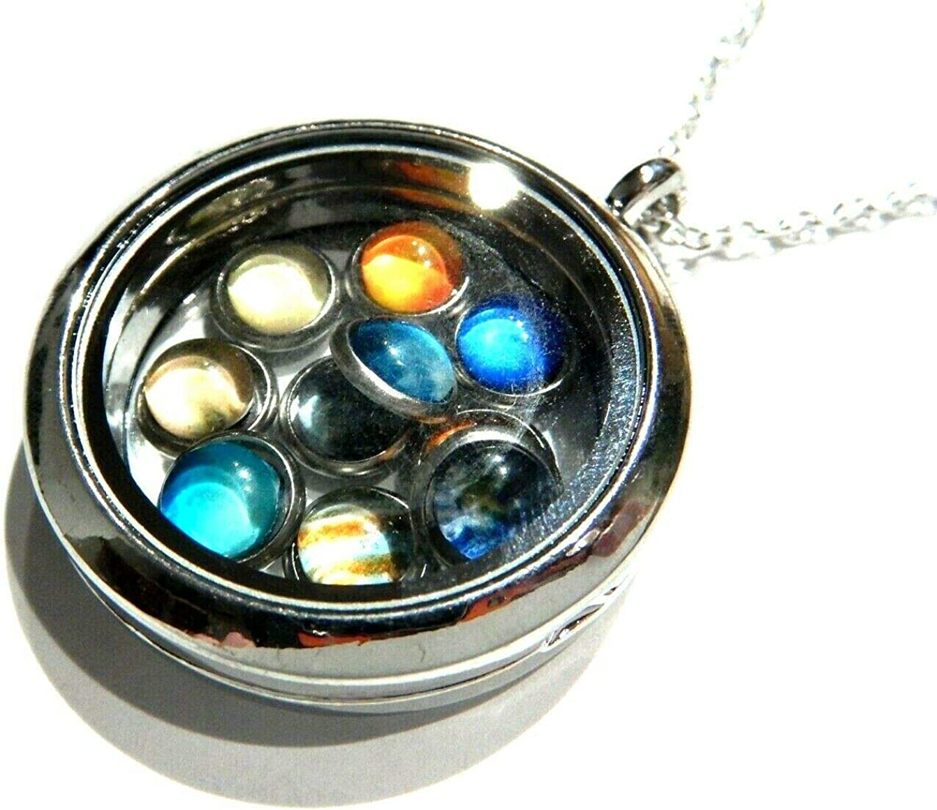 store Solar System Floating Max 72% OFF Locket 10 Removable Su Earth Pluto Planets