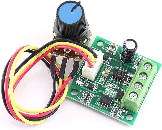 Amazon Com Dzs Elec Dc 1 8 15 V 2 A Mini Controlador De Velocidad Del Motor Pwm 1 8 V 3 V 5 V 6 V 7 2 V 12 V 30 W Motor De Bajo