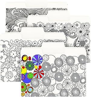 محفظة ملفوفة تلوين من سجاد سوبر تاب، بمقاس كبير 1/3 قطعة، مقاس الحرف، 4 تصميمات، 12 لكل حزمة (11648)