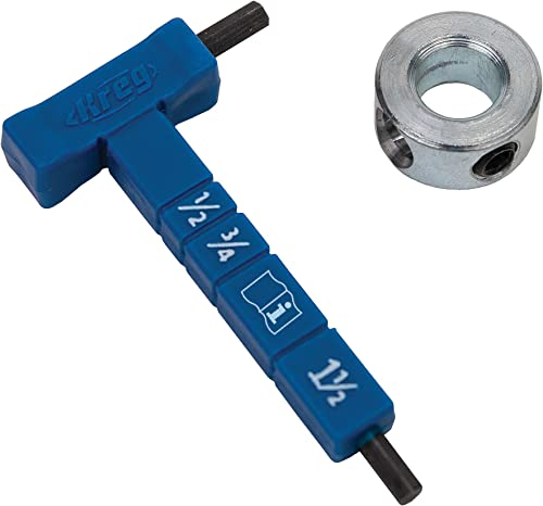 wholesale Kreg Easy-Set Stop Collar popular & Material Thickness Gauge/Hex lowest Wrench Kit - KPHA330 outlet online sale
