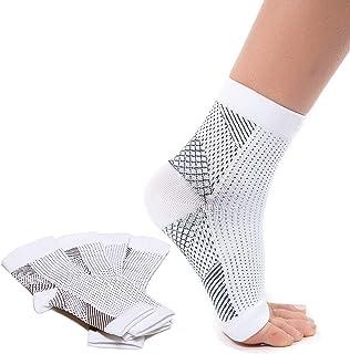 Chaussettes de compression pour aponévrosite plantaire(2 paires), pour meilleure circulation sanguine, orthèse de cheville...