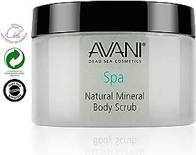 AVANI Classics Natural Mineral Body Scrub | Enriched with Dead Sea Minerals, Jojoba Oil, & Vitamin E | Gently Exfoliates & Moisturizes Skin | Pear and Apple - 14.08 oz.