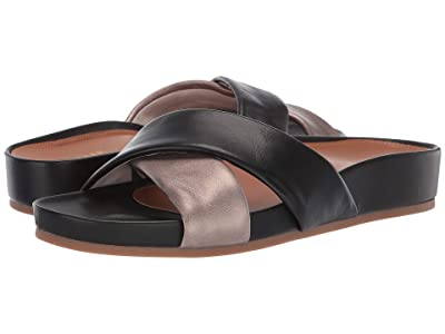 Cole Haan Arielle Sandal (Light Bronze Metallic Leather/Black Leather) Women