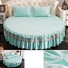Silk Round Bed Bed Skirt, Round Bedspread, Pure Cotton Princess Style Cotton Sheets, 100% Silk Bedspread, Bedding, Suitabl...