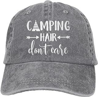 HHNLB Unisex Camping Hair Don t Care 1 Vintage Jeans Baseball Cap Classic Cotton Dad Hat Adjustable Plain Cap
