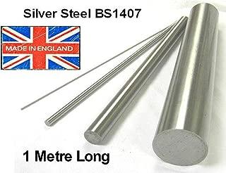 Precision Ground Metric Round Rod Shaft BS1407. 10mm Diameter x 333mm Long 330mm Silver Steel Bar