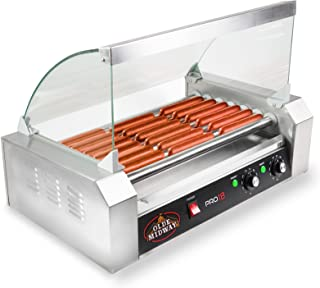 Olde Midway ROLL-PRO18-CVR Grill Cooker Machine, 24.3 x 17.2 x 12.8 inches, white