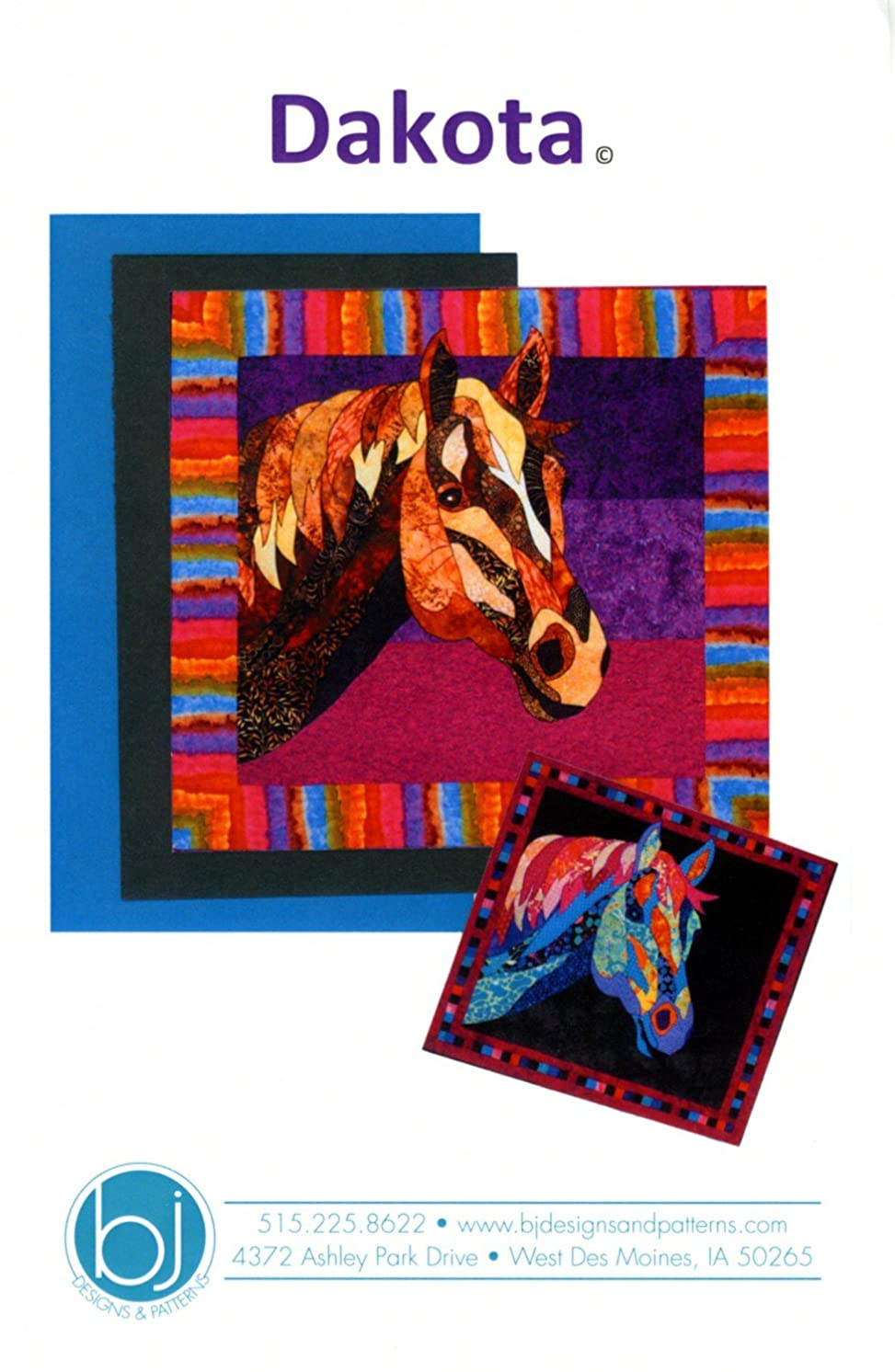 Dakota Horse Fusible Applique Quilt 37 inch by 35 inch Wall Hanging Pattern