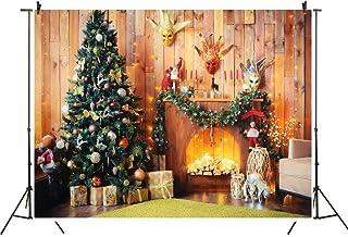 Xgood 5x4 FT Christmas Backdrop Christmas Tree Photo Props Christmas Fireplace Photography Background Christmas Decoration...