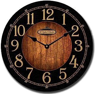 ساعت دیواری سیاه و چوبی ، موجود در 8 سایز ، بیشترین اندازه حمل و نقل روز کار بعدی ، ساکت و آرام.