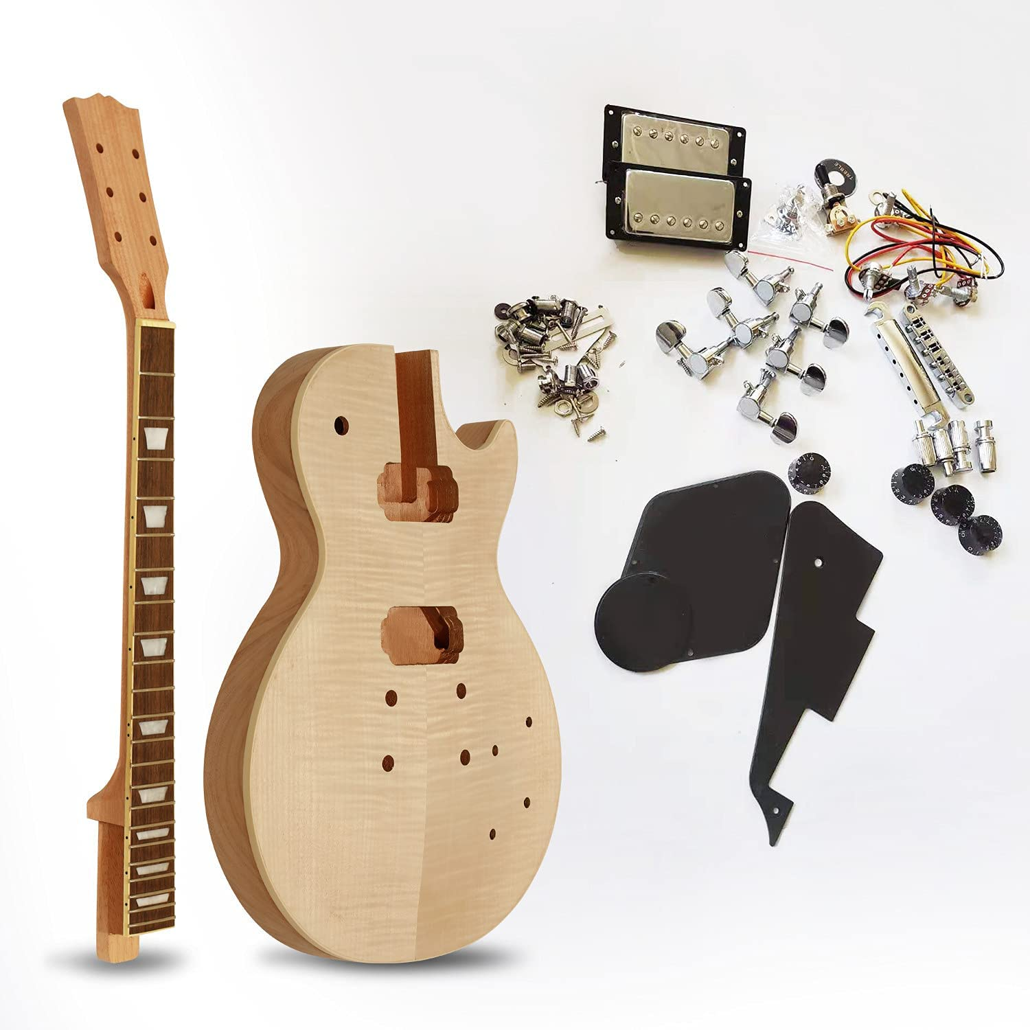 Selling Electric Project Guitar Kit Unfinished Package DIY with Inexpensive Acce All