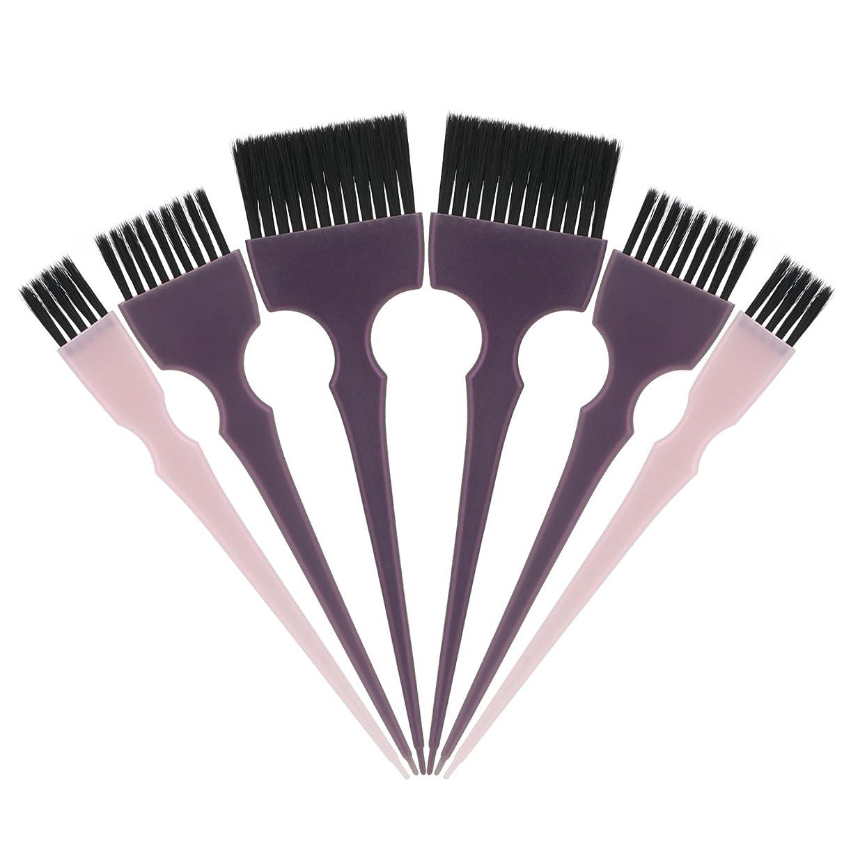 レンダーライバルラジエーターSegbeauty 髪染めのブラシ 六本のセット サロンの美髪用 プロのヘアカラーリング用