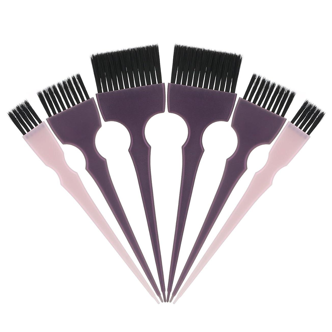養う掘る間欠Segbeauty 髪染めのブラシ 六本のセット サロンの美髪用 プロのヘアカラーリング用
