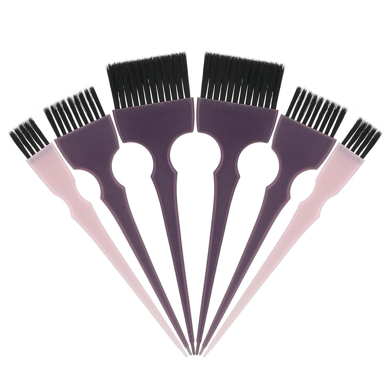 フェロー諸島代名詞控えめなSegbeauty 髪染めのブラシ 六本のセット サロンの美髪用 プロのヘアカラーリング用