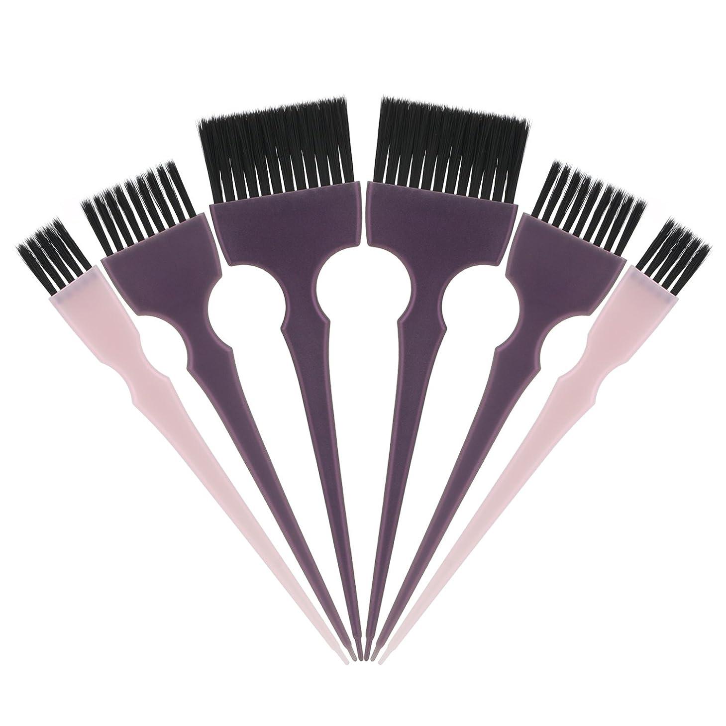 不当ドル非公式Segbeauty 髪染めのブラシ 六本のセット サロンの美髪用 プロのヘアカラーリング用