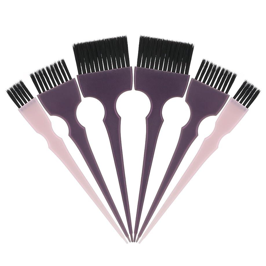 女性破壊的なブロックSegbeauty 髪染めのブラシ 六本のセット サロンの美髪用 プロのヘアカラーリング用