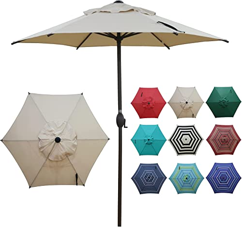 Abba Patio 7.5ft Patio Umbrella Outdoor Umbrella Patio Market Table Umbrella with Push Button Tilt and Crank for Gard...