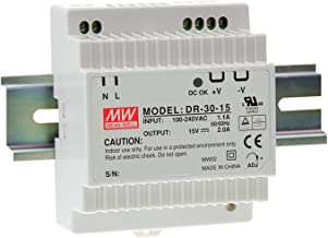 MEAN WELL original DR-30-15 15V 2A meanwell DR-30 15V 30W Single Output Industrial DIN Rail Power Supply