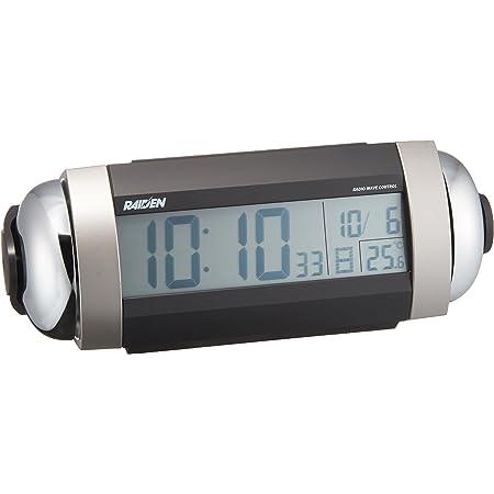 セイコー クロック 目覚まし時計 電波 デジタル 大音量 ベル音 PYXIS ピクシス RAIDEN ライデン 銀色 メタリック NR530S SEIKO