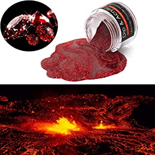 2 In 1 Acrylic Dip Powder Red Diamond of Mount Doom (Added Vitamin and Calcium) I.B.N Fast Dry Glitter Dipping Powder, 1 Ounce/28g, for Nail Salon Home Use (97)