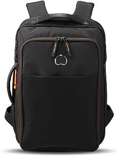 Delsey Paris 00203061000 Boys' Shoulder Bag, Black/Orange, 45 Centimeters