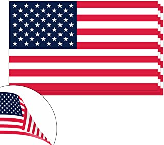 Classic Biker Gear American Flag Vinyl Decals - Double Sided Apply Inside or Outside - 3