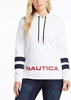Nautica womens Classic Supersoft 100% Cotton Pullover Hoodie Hooded Sweatshirt