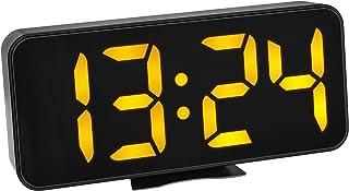 TFA Dostmann 60.2027.01 - Despertador Digital con números LED Naranjas y indicador de Temperatura Interior, con Alarma de ...