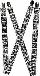 Buckle-Down Suspenders-Batman Outlines Black/White