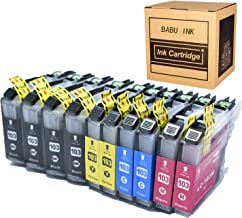 Luckytime Compatible Ink Cartridge Replacement for Brother LC103 Work With Brother MFC J4310DW J4410DW J4510DW J4610DW J4710DW J6520DW J6720DW J6920DW J450DW J470DW J650DW J870DW 10-PACK