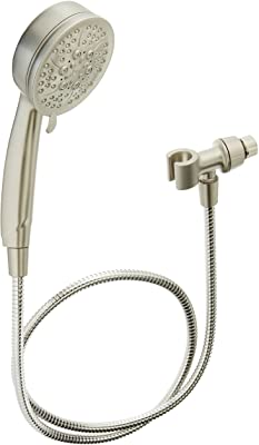 Moen 26015SRN Caldwell Hand Held Shower Head Set Multi Function 2.5 GPM Spray with Hose, Brushed Nickel