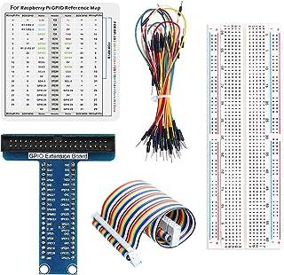 WayinTop RPi GPIO Kit per Raspberry Pi 4B 3B + 3B 2B B +, RPi GPIO Breakout Scheda di Espansione + 20cm 40pin Cavo Piatto ...