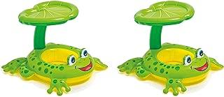 Intex Froggy Friend Shaded Canopy Baby Kiddie Pool Floating Raft | 56584EP (2 Pack)