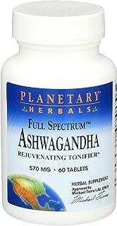 Planetary Herbals Ashwagandha Full Spectrum 570 Mg, 60 Tablets