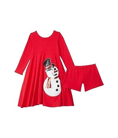 fiveloaves twofish Emma Dress (Toddler/Little Kids) (Red Snowman) Girl