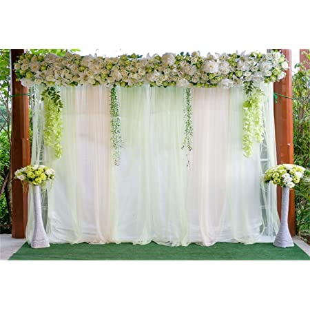 10x7ft Flower Decoration Wall Photo Booth Vinyl Photography Background Wedding Ceremony Anniversary Backdrop Lovers Valentines Day Bride Groom Photo Shoot Activities Banner Studio