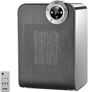Calentador pequeño Calentador doméstico Calentador eléctrico de Ahorro de energía Mini soplador de Aire Caliente pequeño Calentador Solar (Color : Gray, Size : 24 * 16 * 14cm)