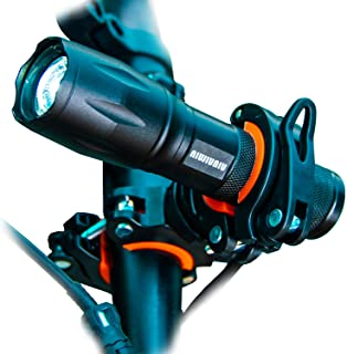 NIUJIUNIU LED Zoomable Bike Bicycle Flashlight with Holder Set Adjustable Focus Water Resistant with 5 Modes High Light Lu...