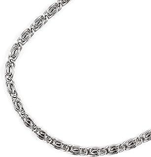 "JFSG 316L Stainless Steel 2.7mm,3.5mm,4mm,5mm,5.5mm Men's Or Women's Greek Key Chain Necklace Lengths 20"",22"",24"",26"" 28"" Children Listing"