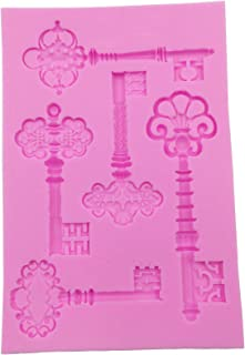 Skeleton Key Silicone Mold for Cake Decoration, Gumpaste, Resin Jewerly, Polymer Clay, Metal Clay, Wax, Soap