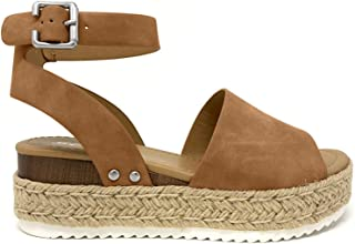Soda Topic Topshoe Avenue Women's Open Toe Ankle Strap Espadrille Sandal