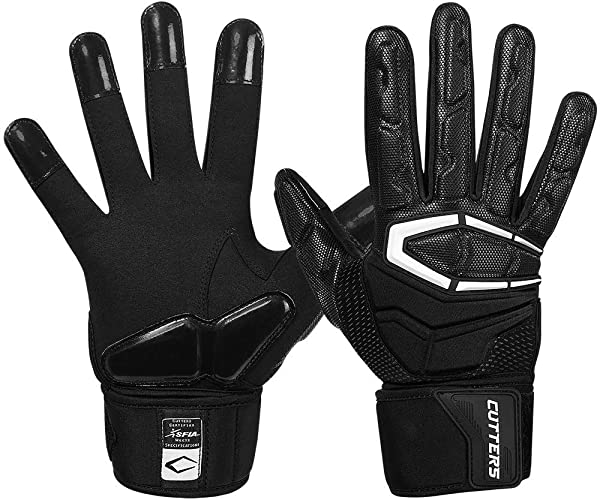 Cutters Lineman Padded Football Glove Force 3 0 Extreme Grip Football Glove Flexible Padded Palms Back Of Hand Adult 1 Pair