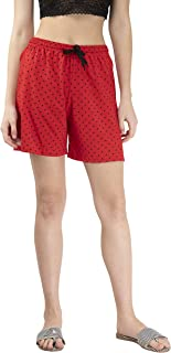 IndiWeaves Women's Cotton Printed Hot Shorts