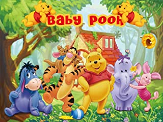 Winnie The Pooh Backdrop | Baby Shower | Party Supplies | Babyshowers | 1st Birthday | Decorations | Banner Photography Background