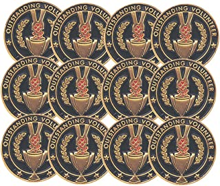 3/4 Inch Outstanding Volunteer Lapel Pin - Package of 12, Poly Bagged