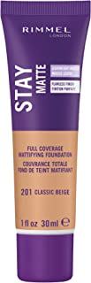 Rimmel Stay Matte Liquid Mousse Foundation, Classic Beige 201, 30ml